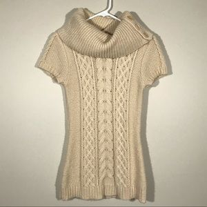 BCBG Short Sleeve Cowl Neck Sweater